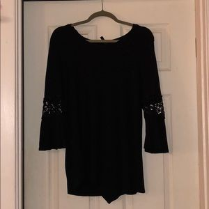 Tops - Black long sleeve with cut outs